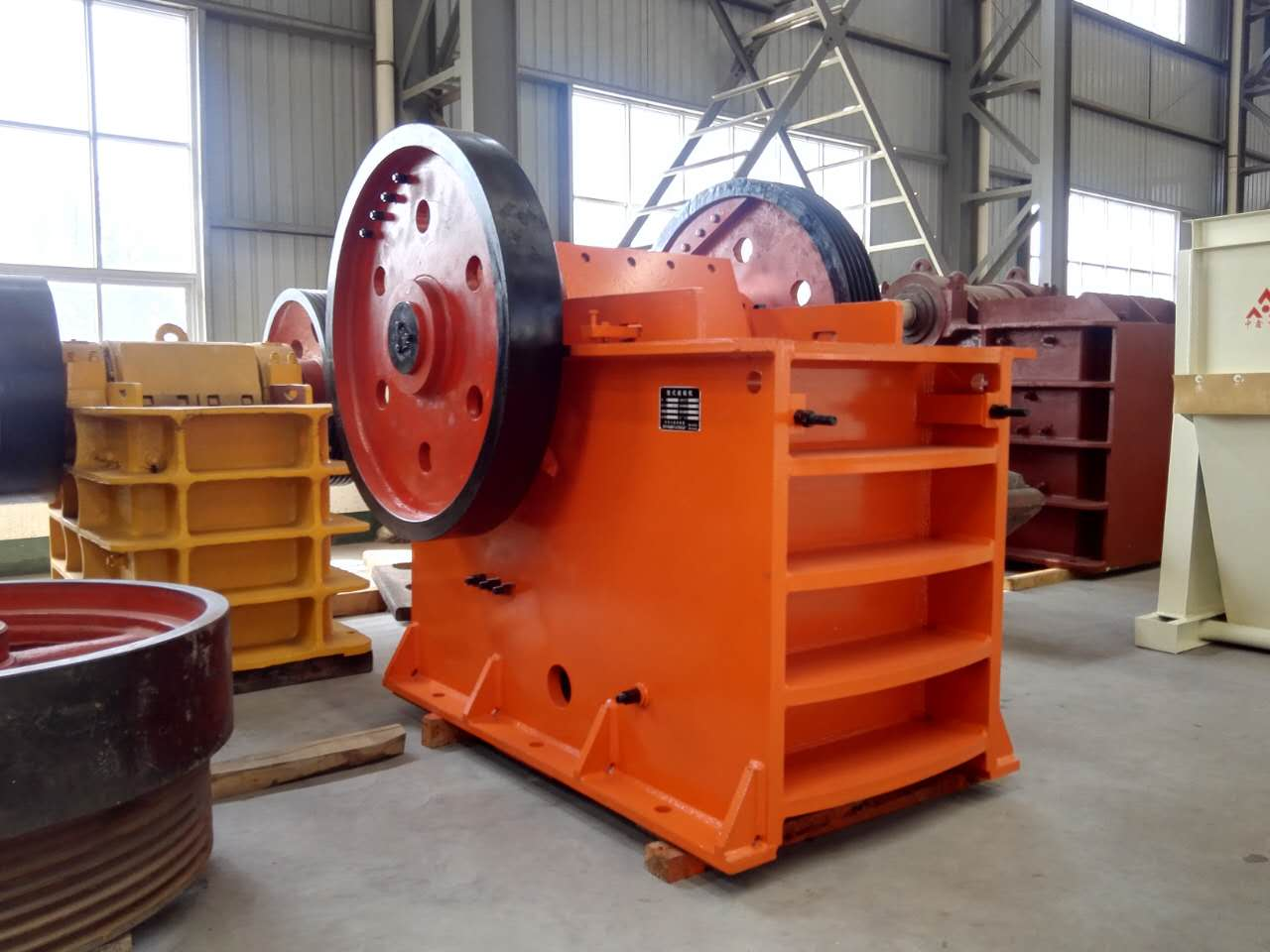 Jaw crusher parts inspection