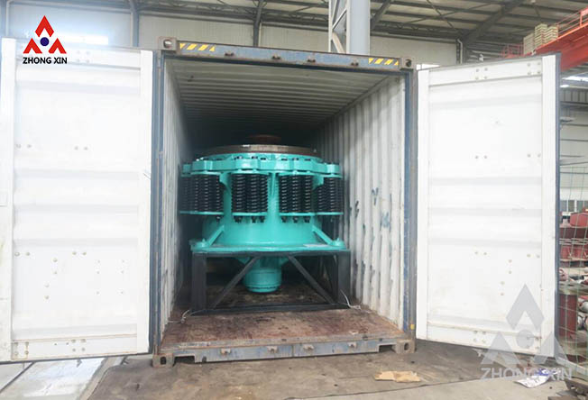 PYB 1200 spring cone crusher is shipping