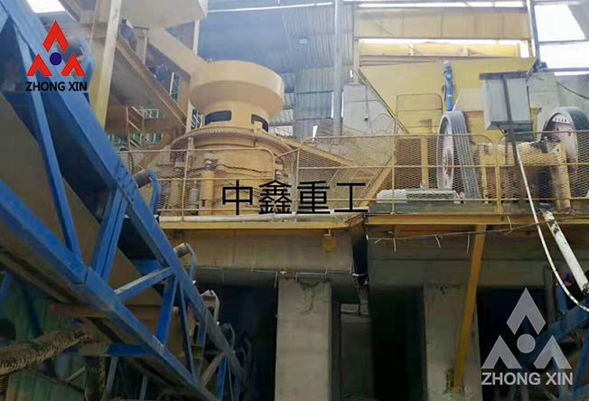 River pebble crushing selection cone crusher is more efficient
