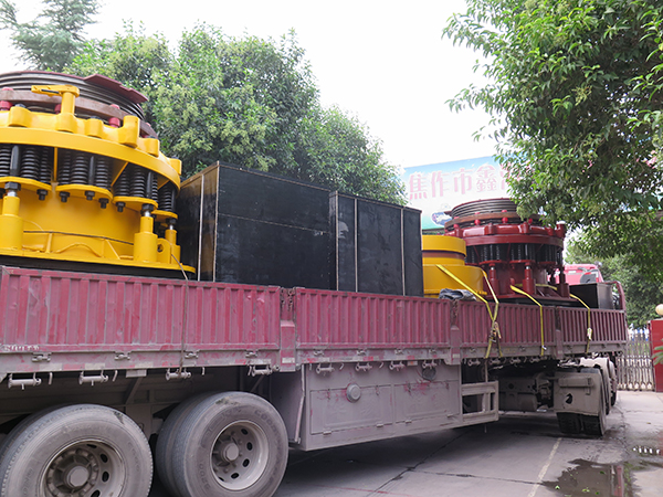 Delivery--350tph granite crushing plant
