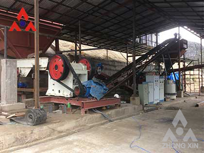 Gravel crushing and processing equipment