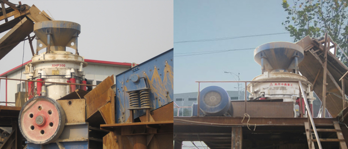 hydraulic cone crusher in stone crushing line