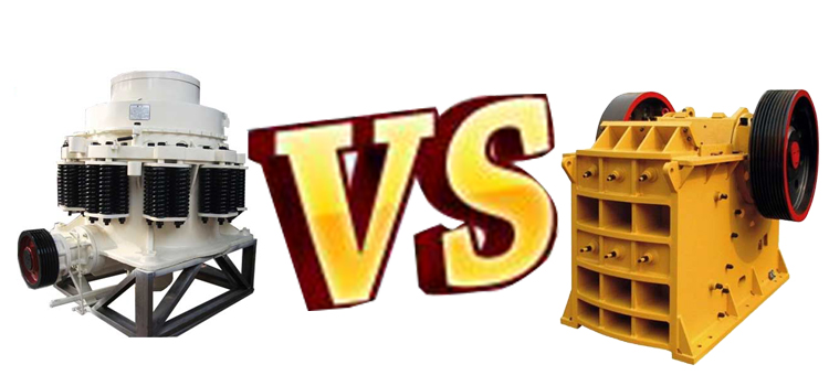 jaw crusher VS spring cone crusher
